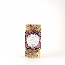 WHITE CHOCOLATE BAR WITH ROSE PETALS